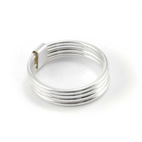 Bague argent 4 anneaux - BAGUES ARGENT - Boutique Nirvana
