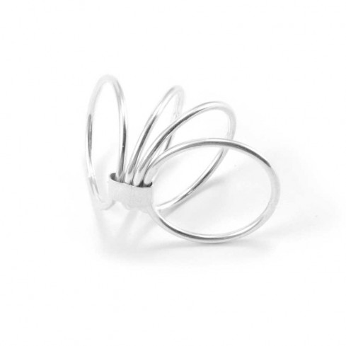 Unique Silver Four-Band Ring - Silver Rings - Boutique Nirvana