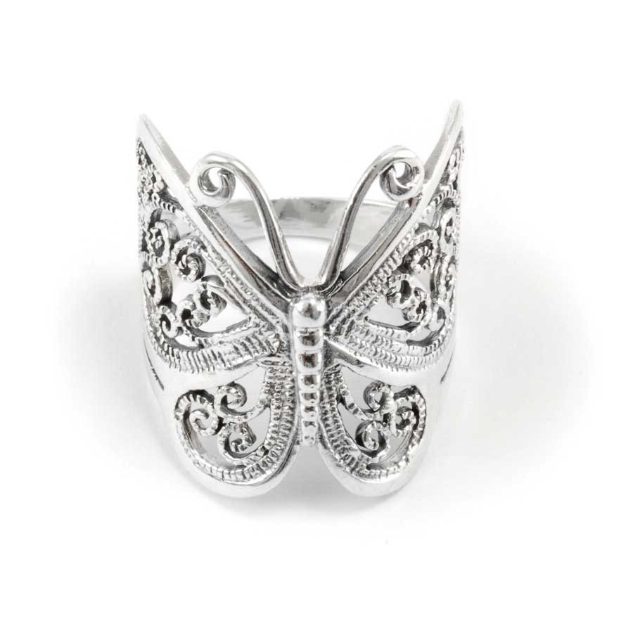 Beautiful Silver Butterfly Ring - Silver Rings - Boutique Nirvana