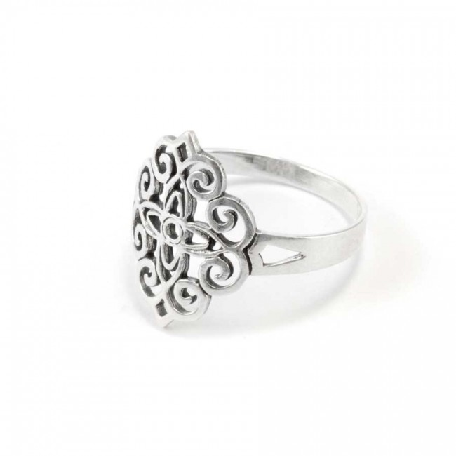 Celtic Silver Statement Ring - Silver Rings - Boutique Nirvana