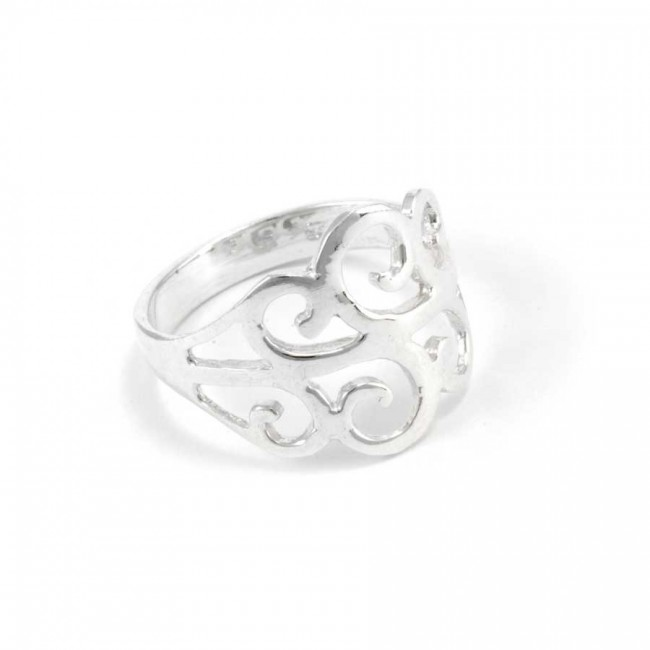 Celtic Spiral Silver Ring - Silver Rings - Boutique Nirvana