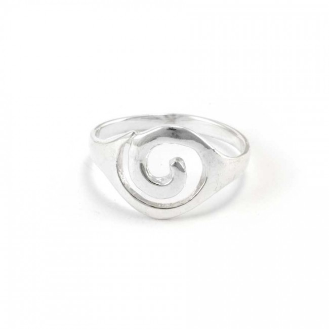 Bohemian Silver Spiral Ring - Silver Rings - Boutique Nirvana