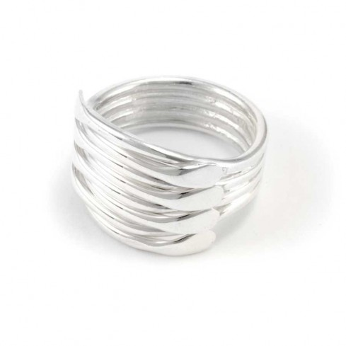 Contemporary Multi-Strand Silver Ring - Silver Rings - Boutique Nirvana