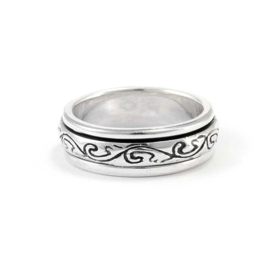 Celtic Silver Spinning Ring - Silver Rings - Boutique Nirvana