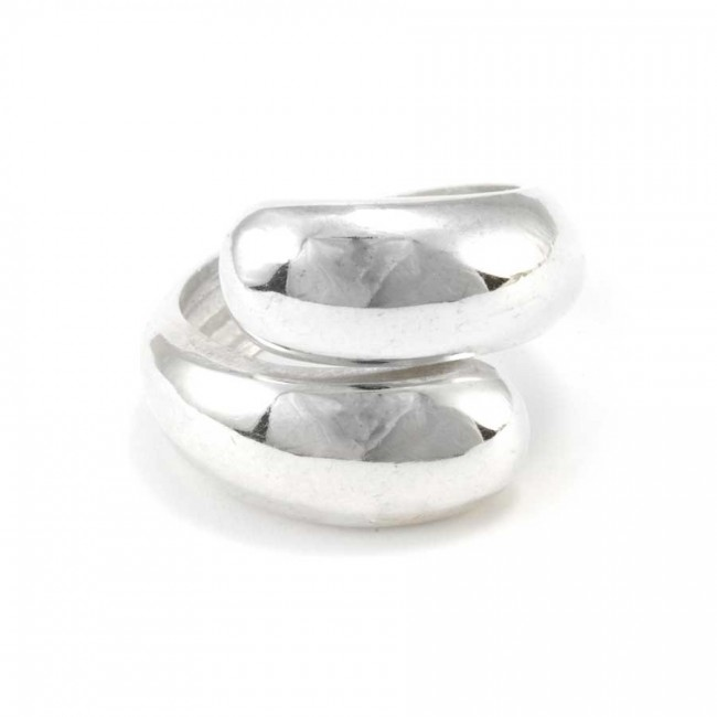 Contemporary Adjustable Silver Wrap Ring - Silver Rings - Boutique Nirvana