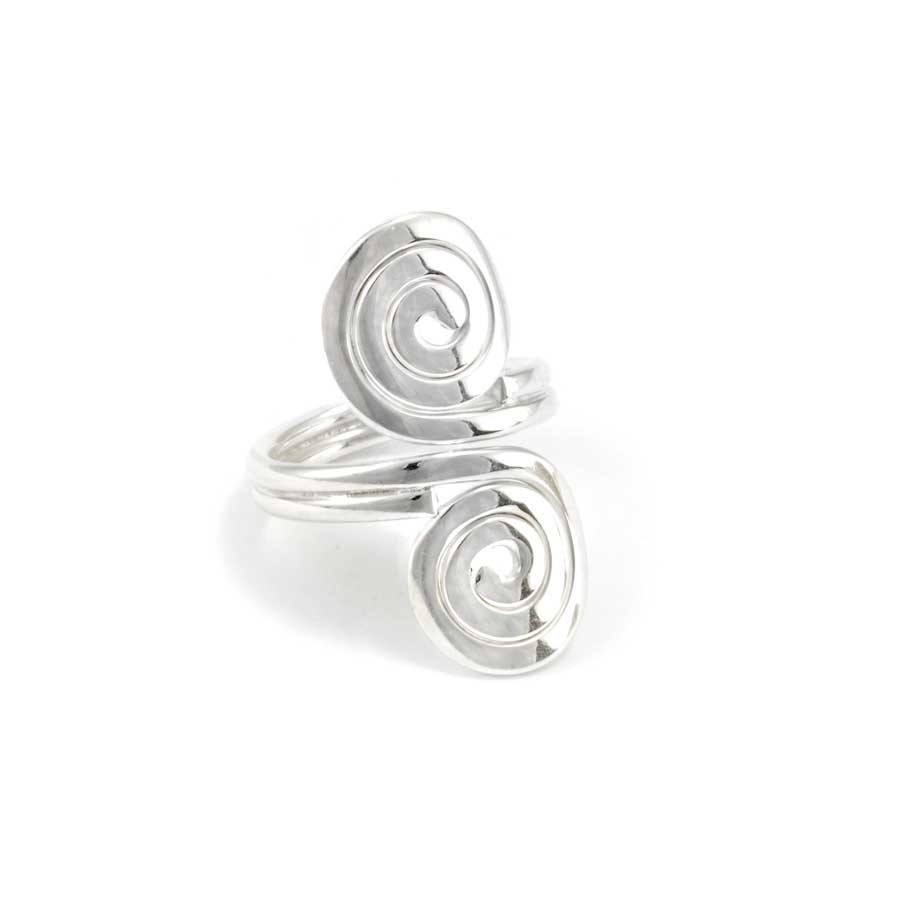 Thai Double Spiral Silver Ring - Silver Rings - Boutique Nirvana