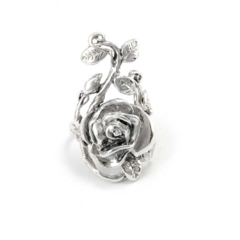 Silver Trailing Rose Ring - Home - Boutique Nirvana
