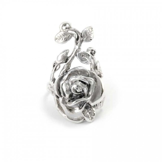 Silver Trailing Rose Ring - Silver Rings - Boutique Nirvana