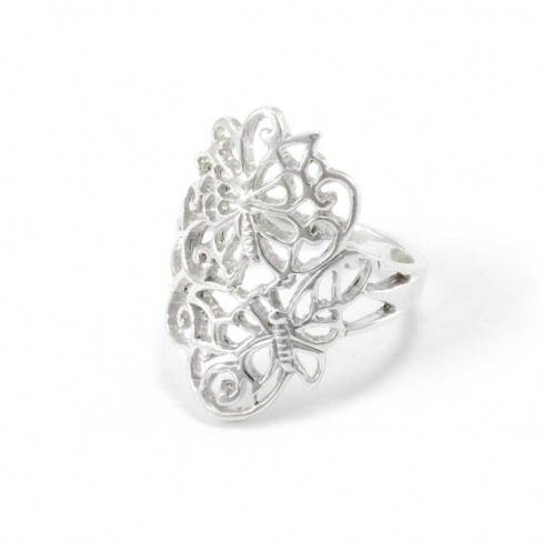 Beautiful Silver Dragonfly Ring - Silver Rings - Boutique Nirvana