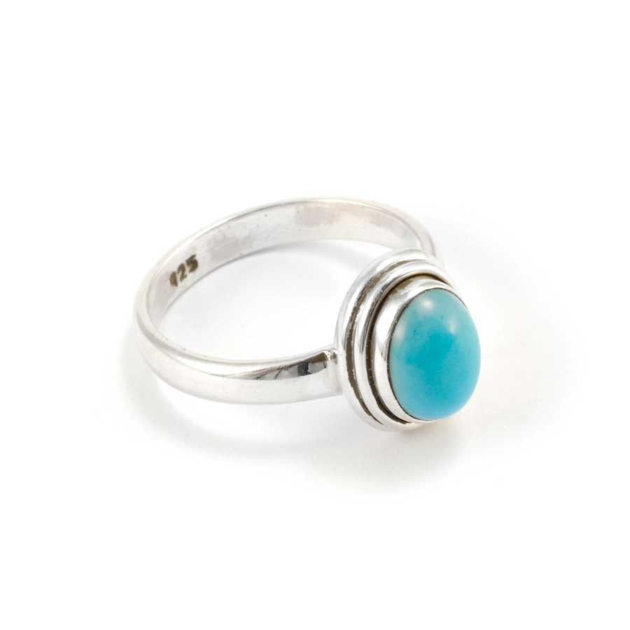 Classic Silver and Oval Stone Ring - Silver Rings - Boutique Nirvana