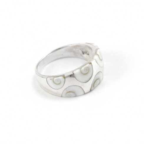 Unique Inlaid Eye of St Lucia Silver Ring - Silver Rings - Boutique Nirvana