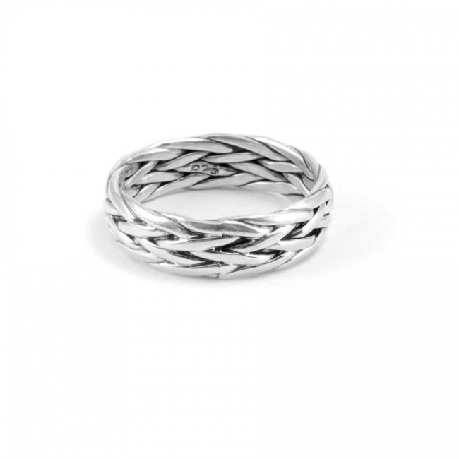 Braided Sterling Silver Ring - Silver Rings - Boutique Nirvana
