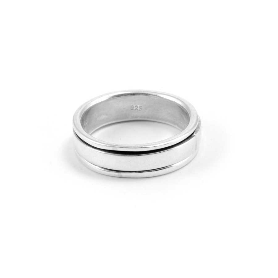 Smooth Silver Spinning Ring - Silver Rings - Boutique Nirvana