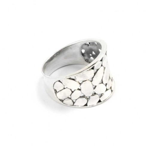 Balinese Silver Pebble Ring - Silver Rings - Boutique Nirvana