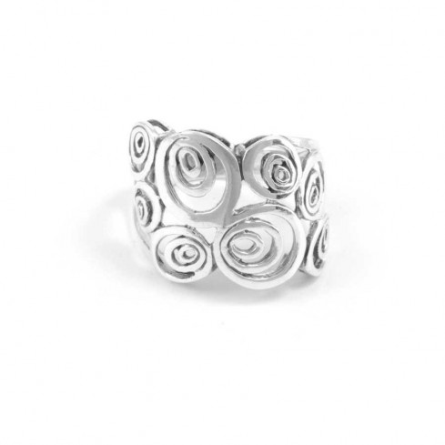 Bohemian Thai Silver Spiral Ring - Silver Rings - Boutique Nirvana