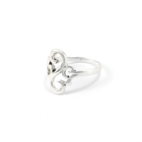 Fine Silver Volutes Ring - Silver Rings - Boutique Nirvana