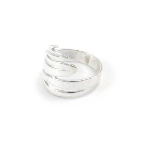 Sterling Silver Zig Zag Ring - Silver Rings - Boutique Nirvana