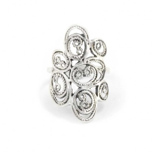 Elegant Indian Detailed Silver Ring - Silver Rings - Boutique Nirvana