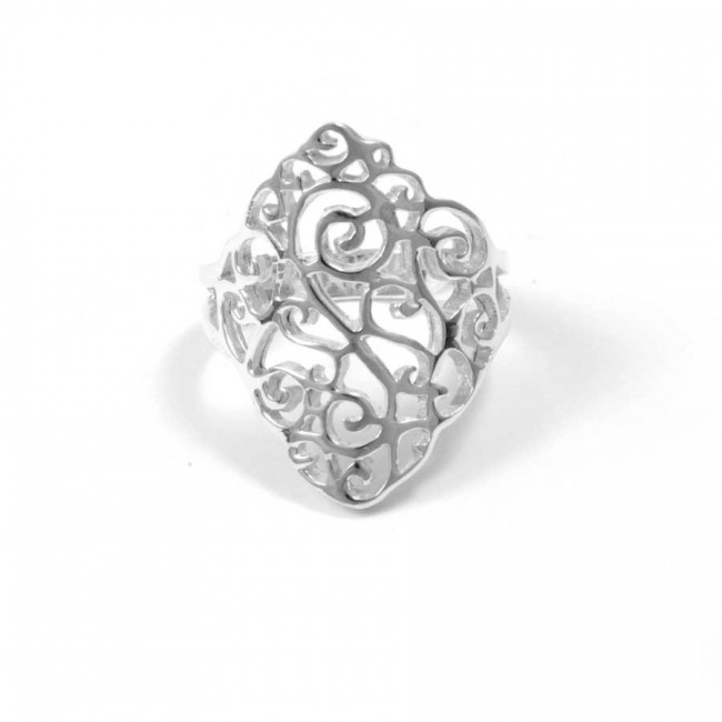 Bohemian Sterling Silver Swirls Ring - Silver Rings - Boutique Nirvana