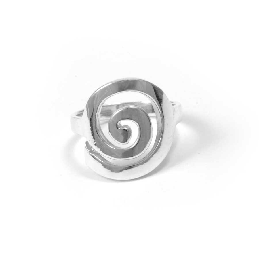 Thai Smooth Silver Spiral Ring - Silver Rings - Boutique Nirvana