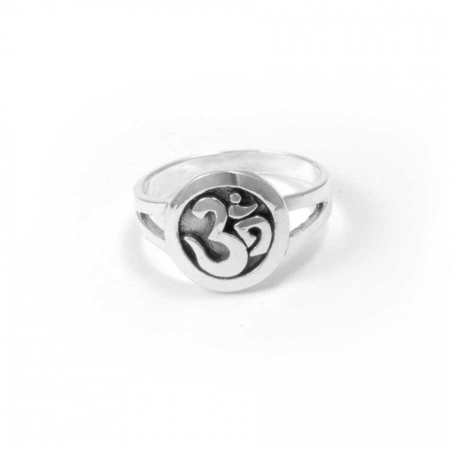 Small Silver Om Ring - Silver Rings - Boutique Nirvana