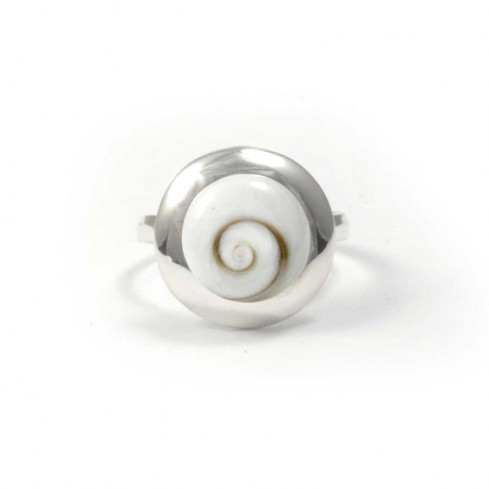 Beautiful Round Eye of St Lucia Ring - Eye of Shiva - Boutique Nirvana