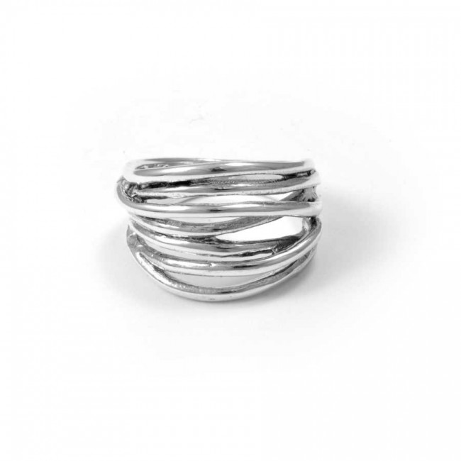 Handcrafted Thai Layered Ring - Silver Rings - Boutique Nirvana