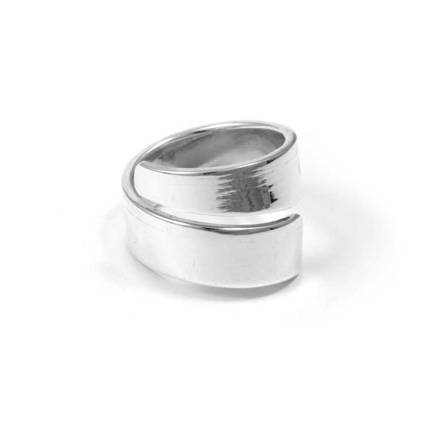 Simple Sterling Silver Adjustable Ring - Silver Rings - Boutique Nirvana