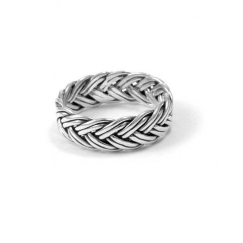 Chunky Braided Sterling Silver Ring - Silver Rings - Boutique Nirvana