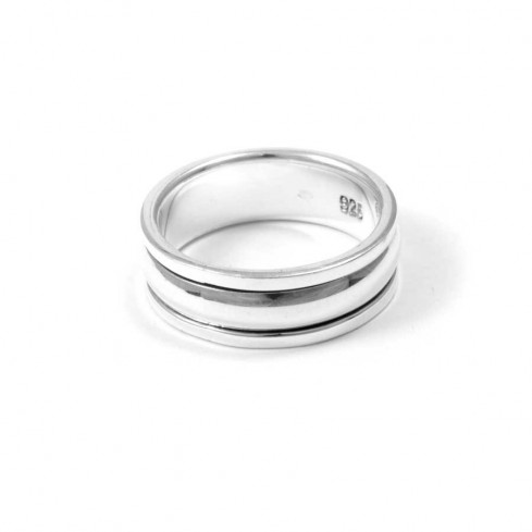 Multilayered Silver Spinning Ring - Silver Rings - Boutique Nirvana