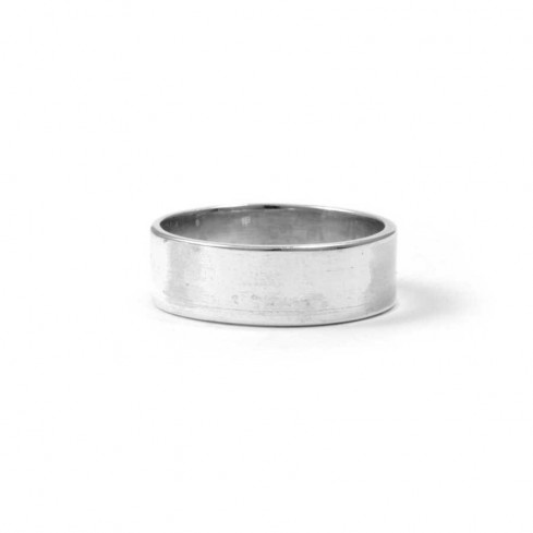 Smooth Flattened Silver Ring - Silver Rings - Boutique Nirvana