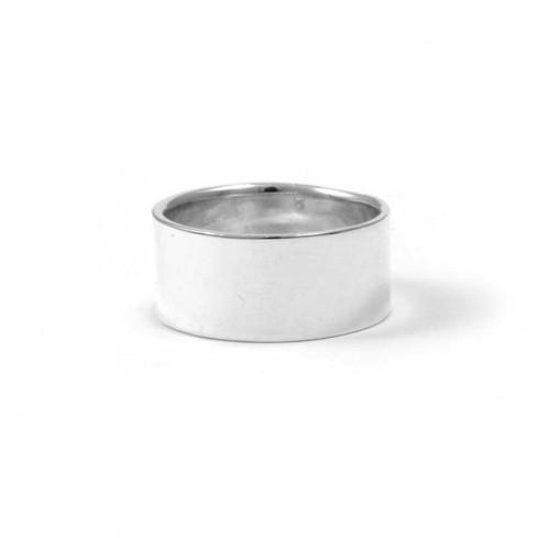 bijoux ethniques indiens argent bague anneau large lisse