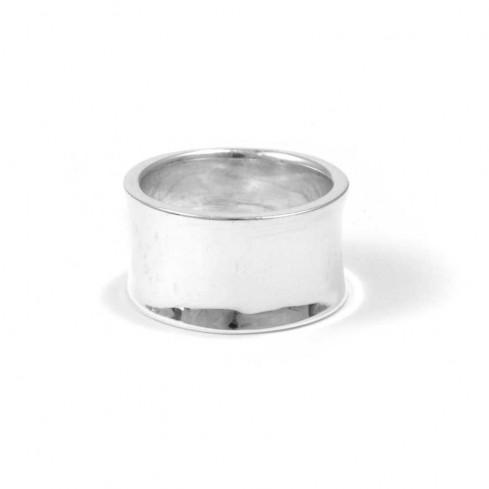 Bague anneau argent incurvé - BAGUES ARGENT - Boutique Nirvana