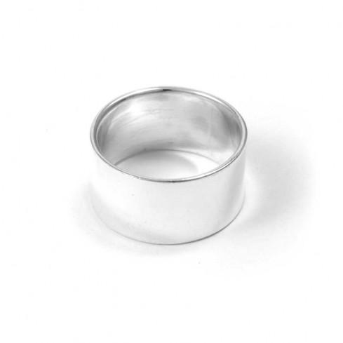 Bague anneau argent large lisse
