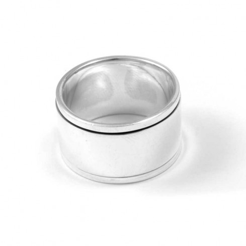 Large Silver Men's Spinning Ring - Silver Rings - Boutique Nirvana