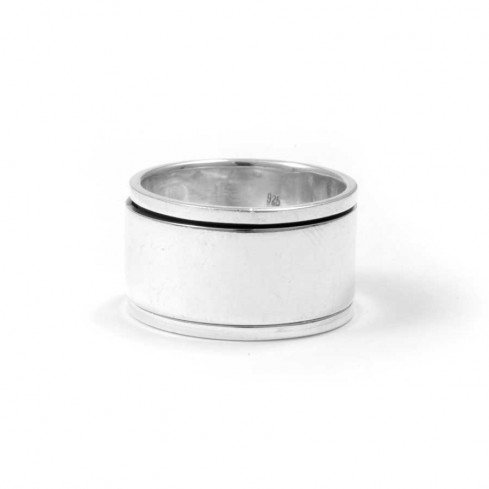 Large Silver Men's Spinning Ring - Home - Boutique Nirvana