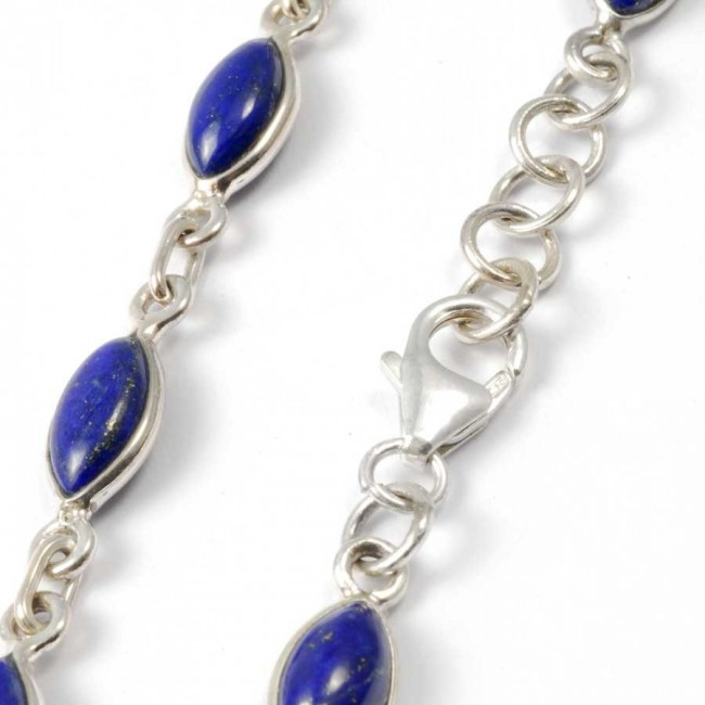 Elegant Silver Bracelet with Natural Stones - PIERRES FINES+ - Boutique Nirvana