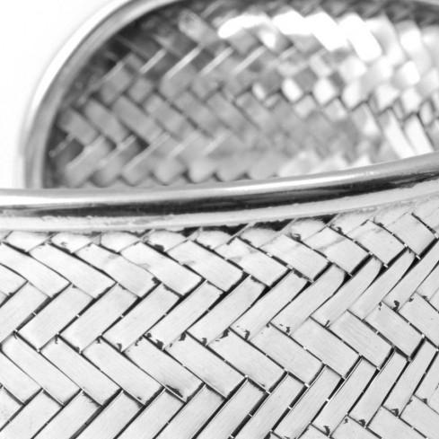 Bracelet argent large tressé