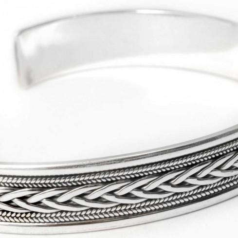 Bracelet argent tressé fin - BRACELETS ARGENT - Boutique Nirvana