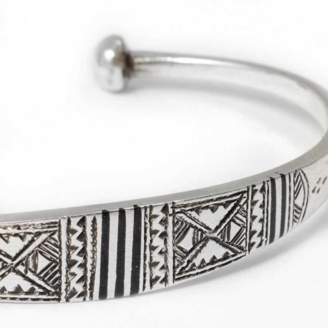 Bracelet fin argent touareg - BRACELETS ARGENT - Boutique Nirvana