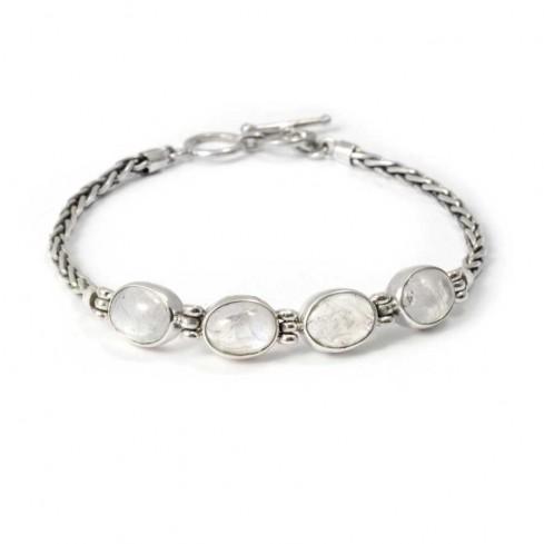 Bracelet argent pierre et chaine - BRACELETS ARGENT - Boutique Nirvana