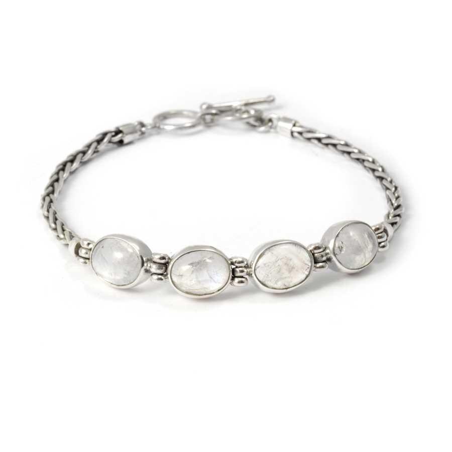 Bracelet maille argent et pierre naturelle - Pierres naturelles - Boutique Nirvana