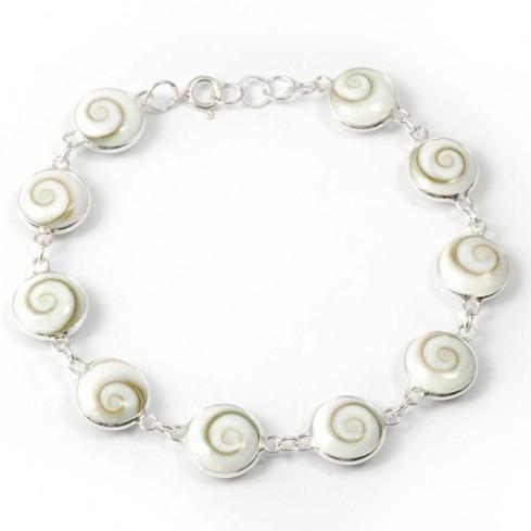 Bracelet argent oeil Ste Lucie rondes - Silver Bracelets - Boutique Nirvana