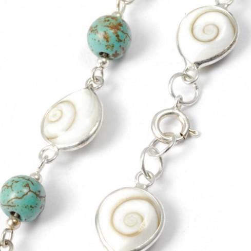 Bracelet argent oeil Ste Lucie et turquoise - SAINTE LUCIE - Boutique Nirvana