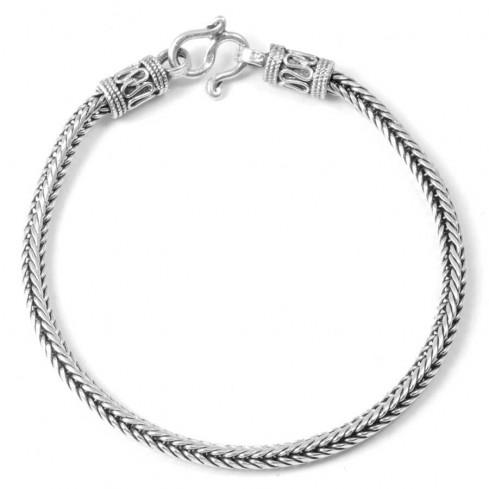 Ethnic Braided Silver Bracelet - Silver Bracelets - Boutique Nirvana