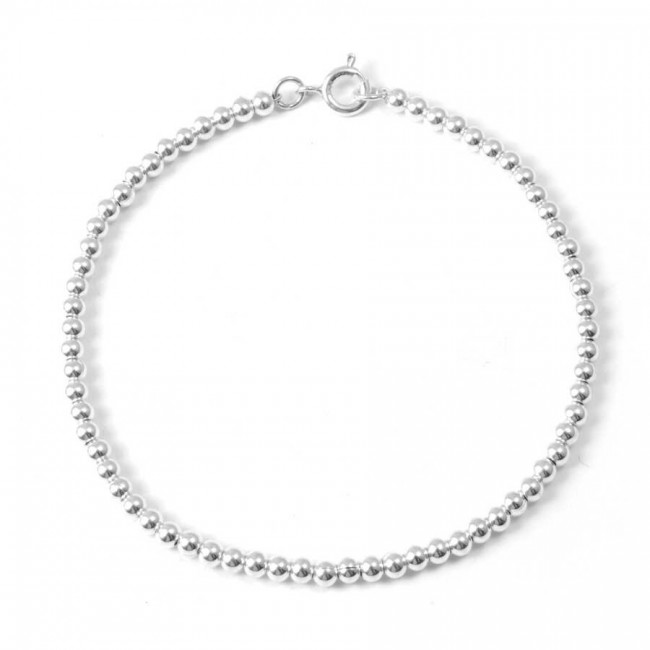 Thai Silver Ball Chain Bracelet - Silver Bracelets - Boutique Nirvana
