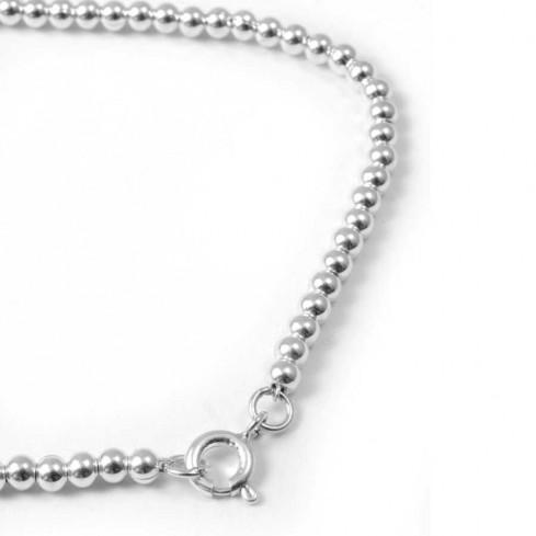 Bracelet fines perles d'argent - BRACELETS ARGENT - Boutique Nirvana