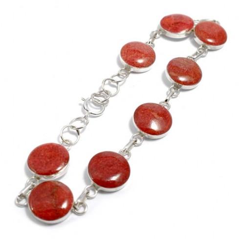 Bracelet corail rond