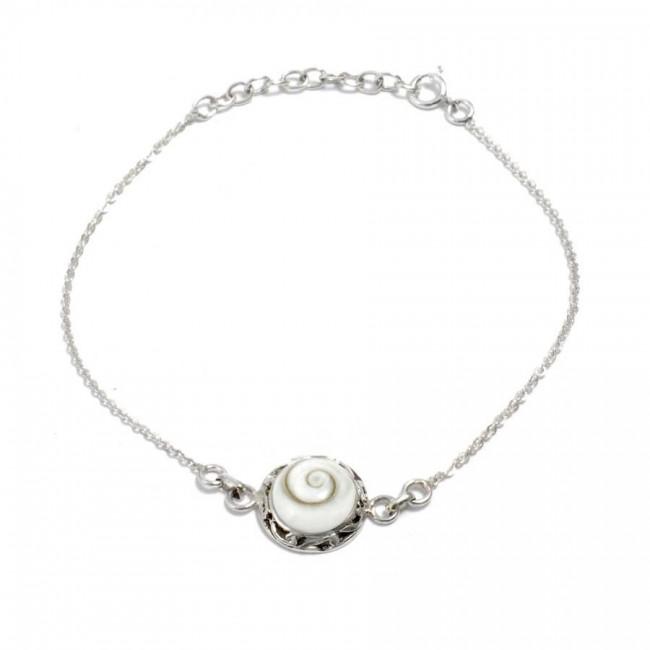 Bracelet argent chaine et sainte lucie ouvragé - SAINTE LUCIE - Boutique Nirvana