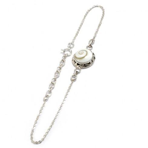 Bracelet argent chaine et sainte lucie ouvragé - BRACELETS ARGENT - Boutique Nirvana